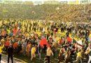 I festeggiamenti allo Stadio Amsicora