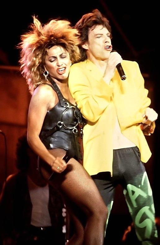 Live Aid, Tina Turner e Mick Jagger