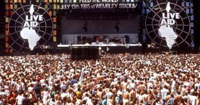Il palco del Live Aid a Wembley