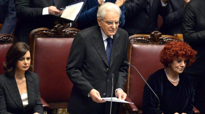 Discorso insediamento Sergio Mattarella