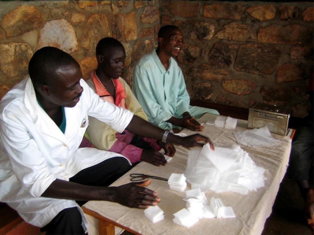 Medici e infermieri in  Burundi