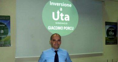 """Il candidato della lista """"Inversione a Uta"""" Giacomo Porcu"""