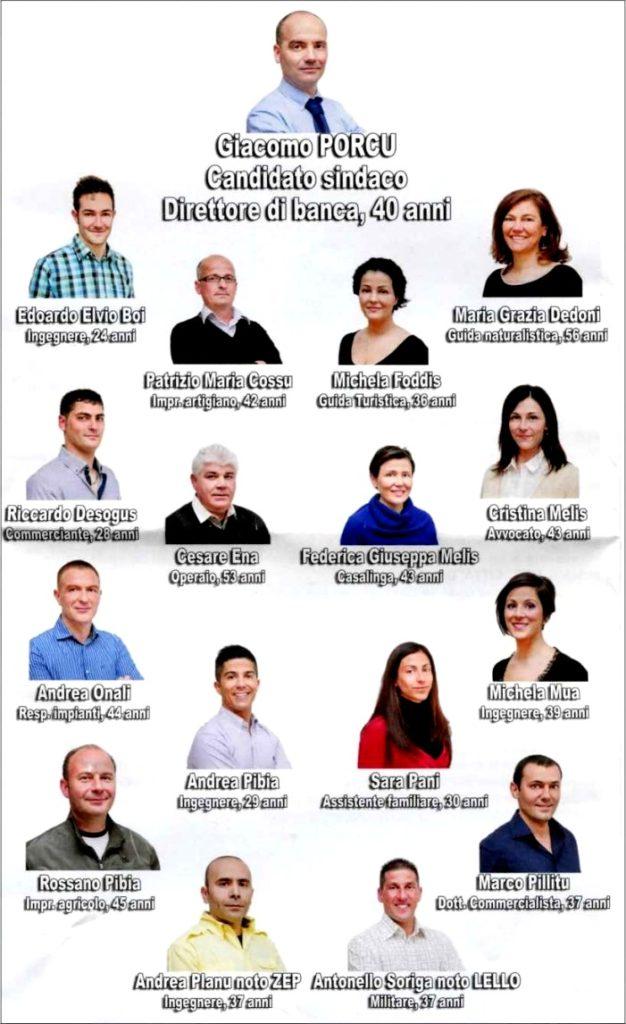 """I candidati della lista """"Inversione a Uta"""""""