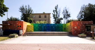 """Il dipinto realizzato dai bambini grazie all'artista """"Tellas"""" in occasione di """"TERRA LIBERA - una giornata per l'ambiente"""" - © foto Tellas"""