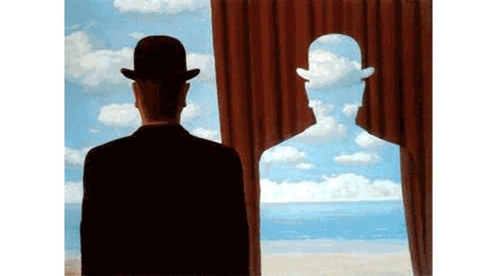 René Magritte, Decalcomania, 1966