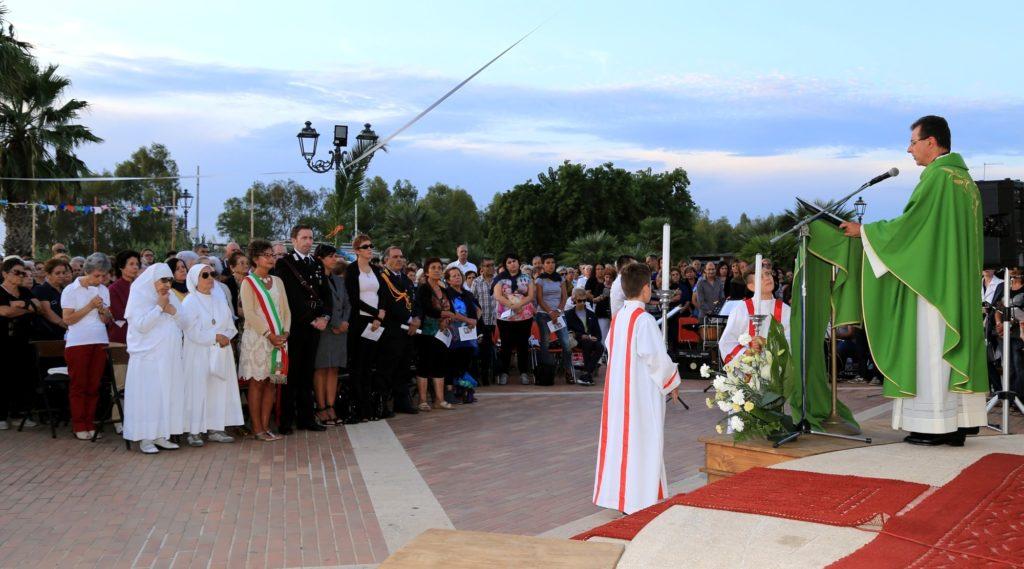 La prima messa di don Andrea Lanero a Decimomannu (foto Tomaso Fenu)