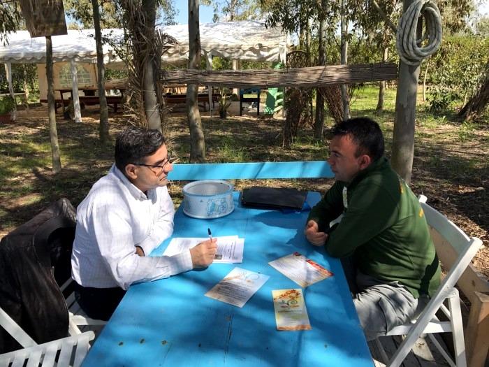 Sandro Bandu intervista Silvio Melis (foto Feder)