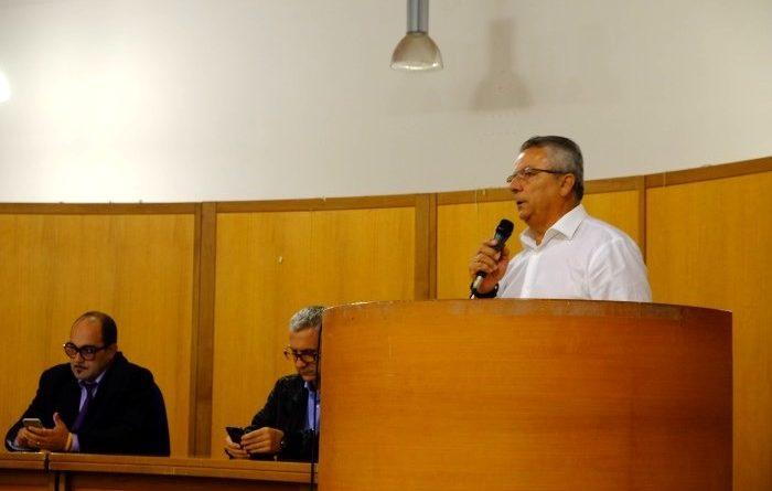 Il consigliere comunale di Decimomannu Mario Grieco (foto Antonio Mallica)