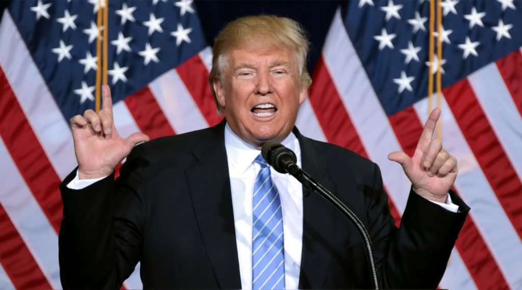 Il Presidente degli Stati Uniti d'America, Donald Trump
