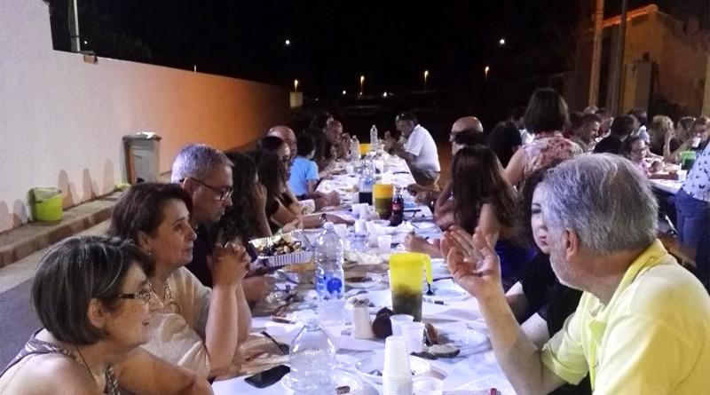 """La """"Prima cena di buon vicinato"""" a Villaspeciosa"""