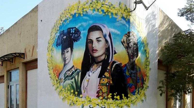 Il murale dell'artista davide Pils
