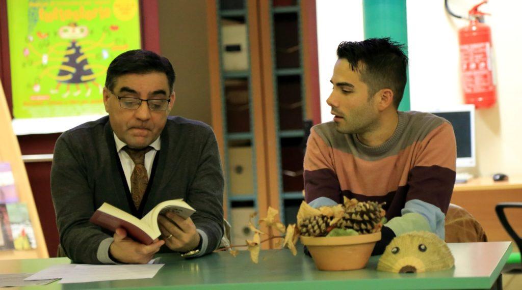 Alessio Corda con il moderatore Sandro Bandu