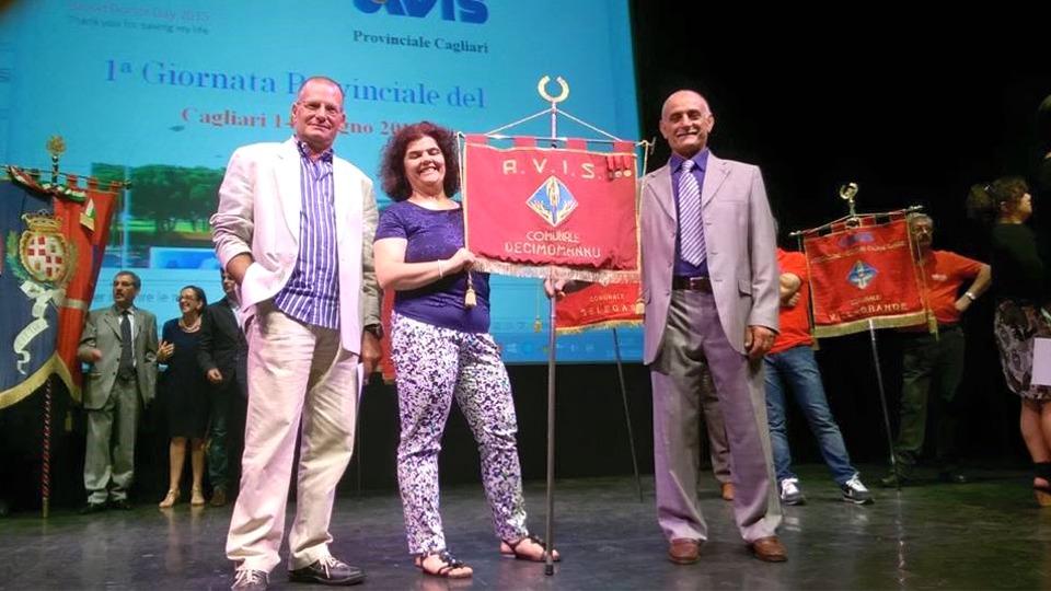 La presidente Maria Paola Cassaro con Dino Manca, altro storico donatore della sede decimese