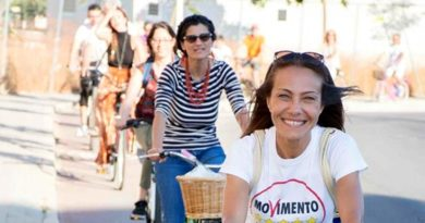 Sabrina Licheri in campagna elettorale (foto Raffaele Schirra)