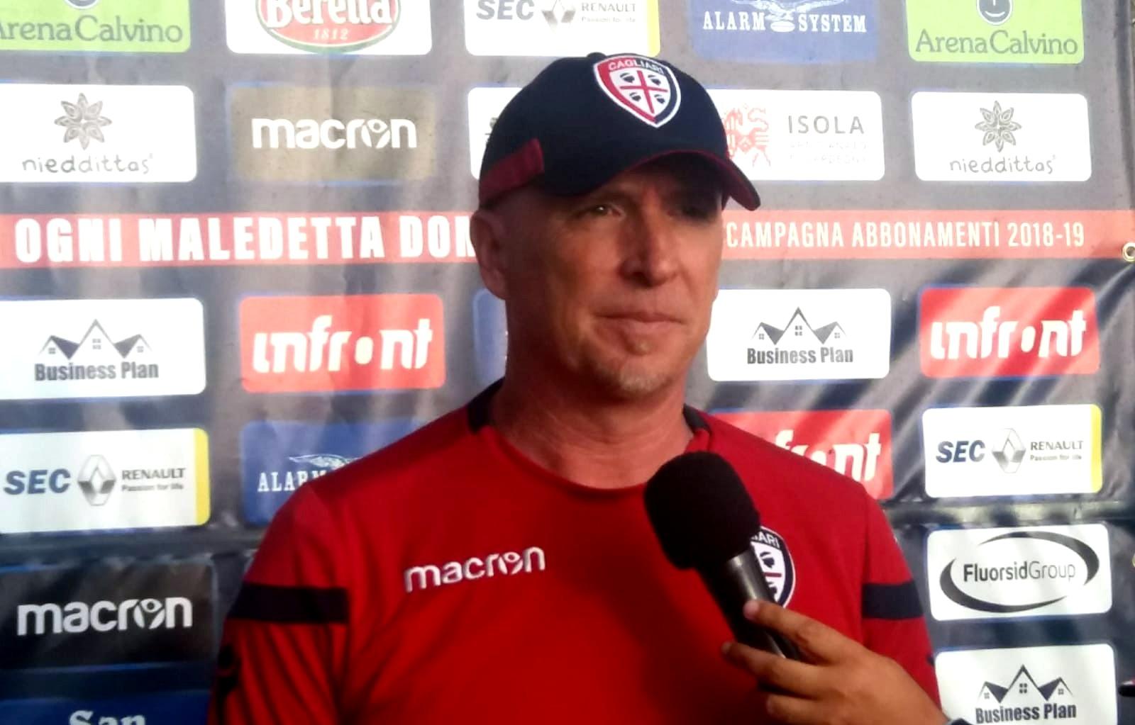 Il nuovo allenatore del Cagliari Rolando Maran (foto Fabio Ornano)