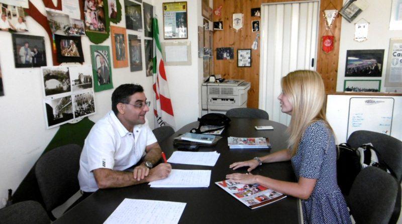 Un momento dell'intervista ad Alice Aroni (foto Mare)