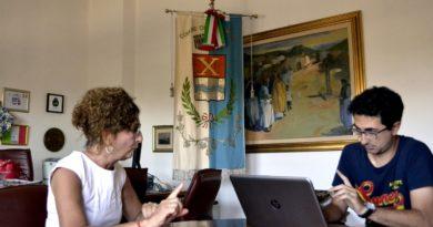 La sindaca di Decimomannu Anna Paola Marongiu (foto Christian Salis)