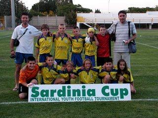 Una delle squadre partecipanti alla Sardegna Cup (foto Vincenzo Girau)