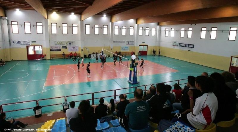 Il palazzetto dello sport di Decimomannu (foto Tonino Uscidda / Fotogramma)