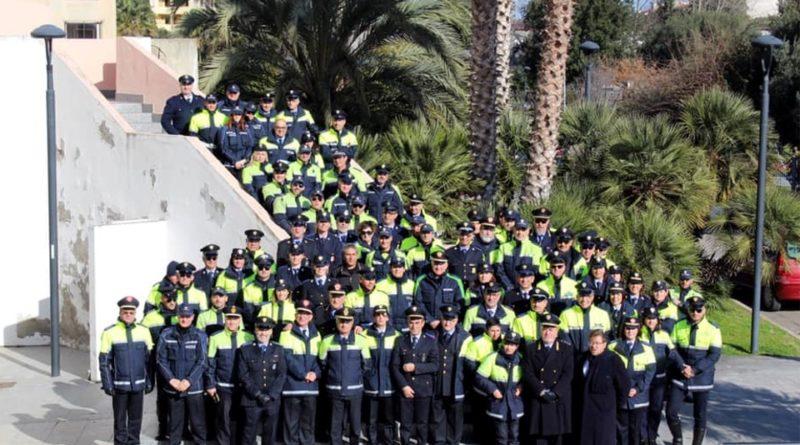 Gli agenti della Polizia locale di Assemini