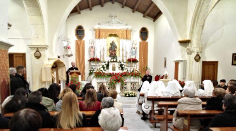 Monsignor Arrigo Miglio in visita pastorale a Villaspeciosa