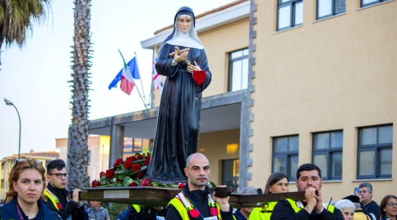 La statua di Santa Rita (foto Sara Carboni)