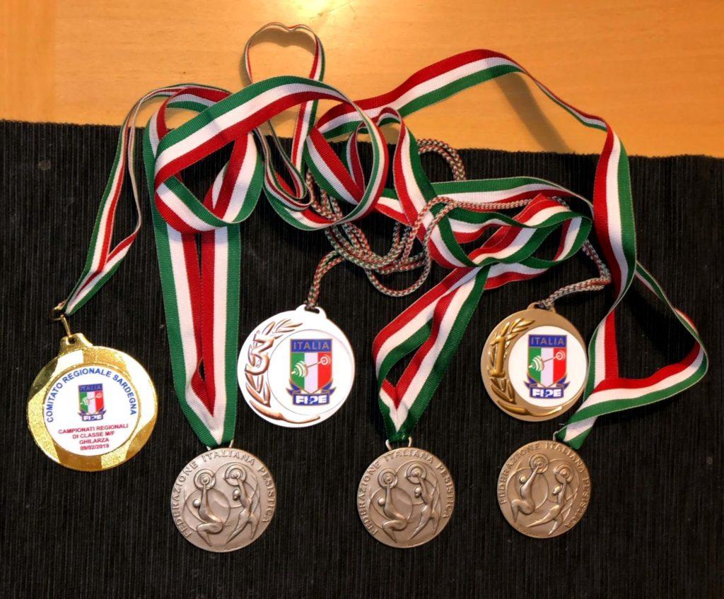 Le medaglie conquistate da Asia