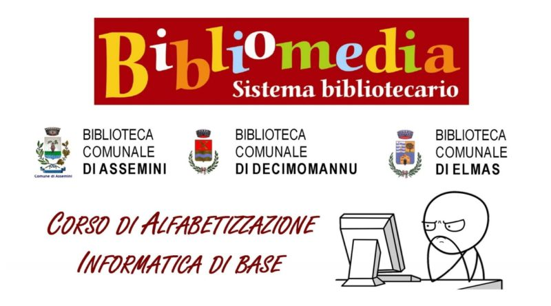 Assemini e Decimomannu, corso di alfabetizzazione informatica di base per adulti