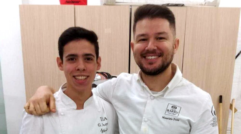 Pieraldo Floris e lo chef Maurizio Frau