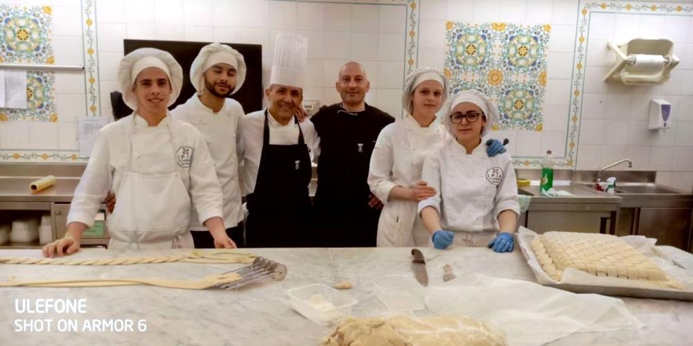 Pieraldo, i compagni e gli chef del Quirinale