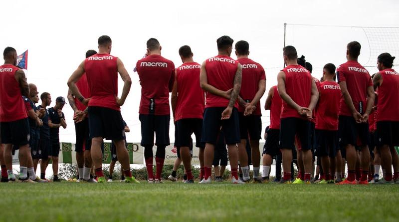 Il primo allenamento stagionale ad Aritzo - © foto Cagliari Calcio