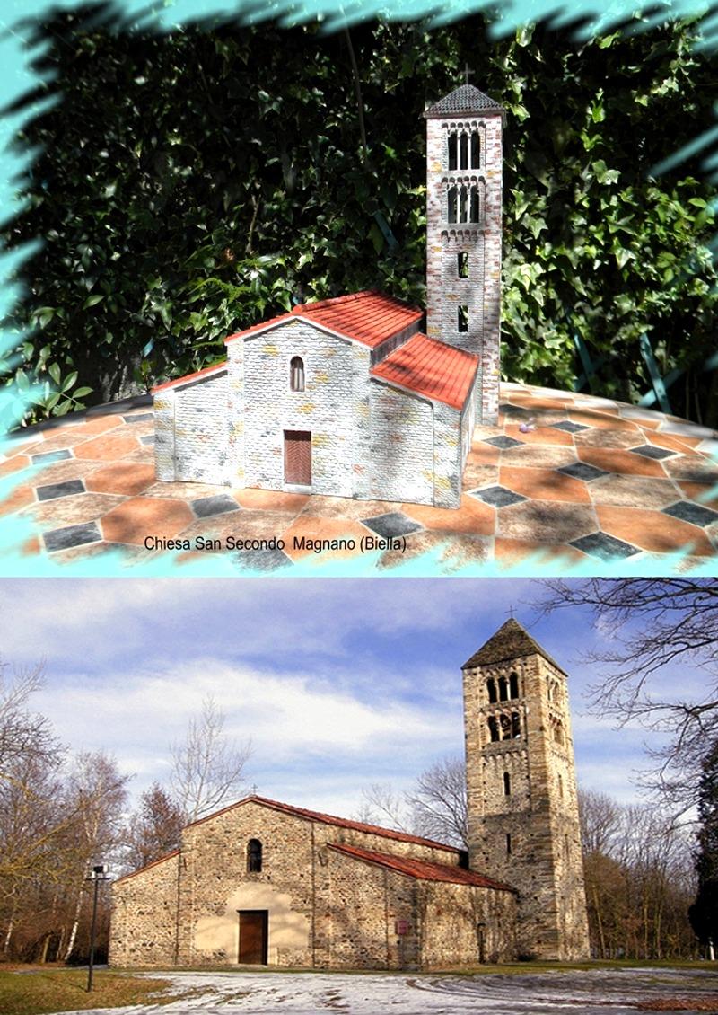 La riproduzione della chiesa di San Secondo Magnano (Biella)