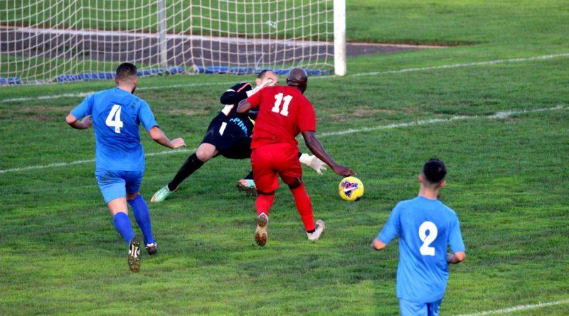 Marcelin Zeutsa nell'azione del gol al Monastir (© foto Elena Accardi)