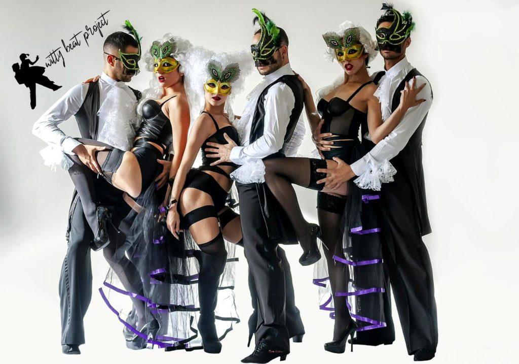 Alcuni componenti della compagnia Witty Beat Project - © foto Erminia Tanda
