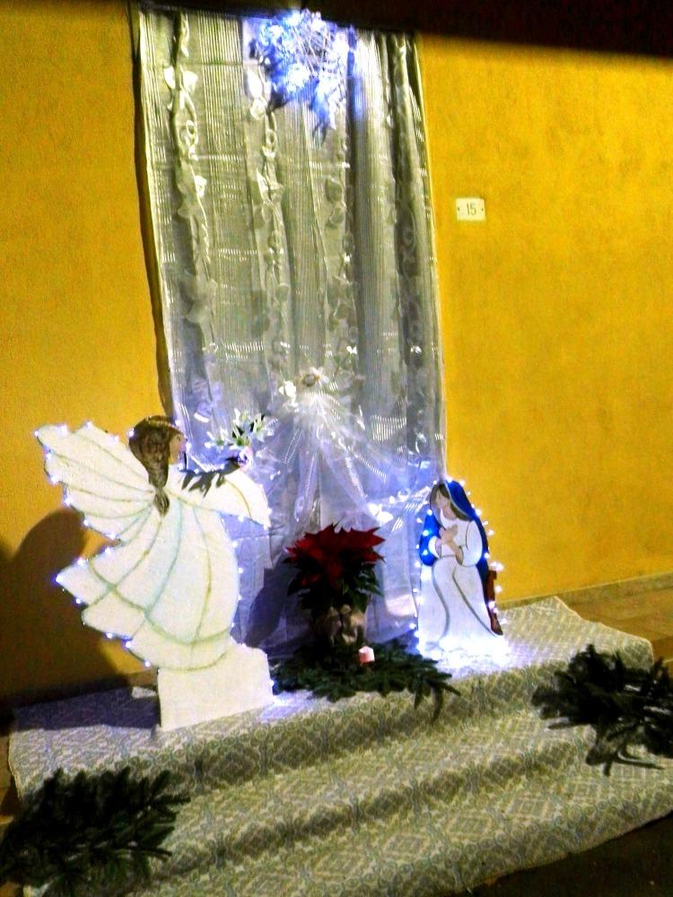 Presepe diffuso Villaspeciosa - l'annunciazione a Maria