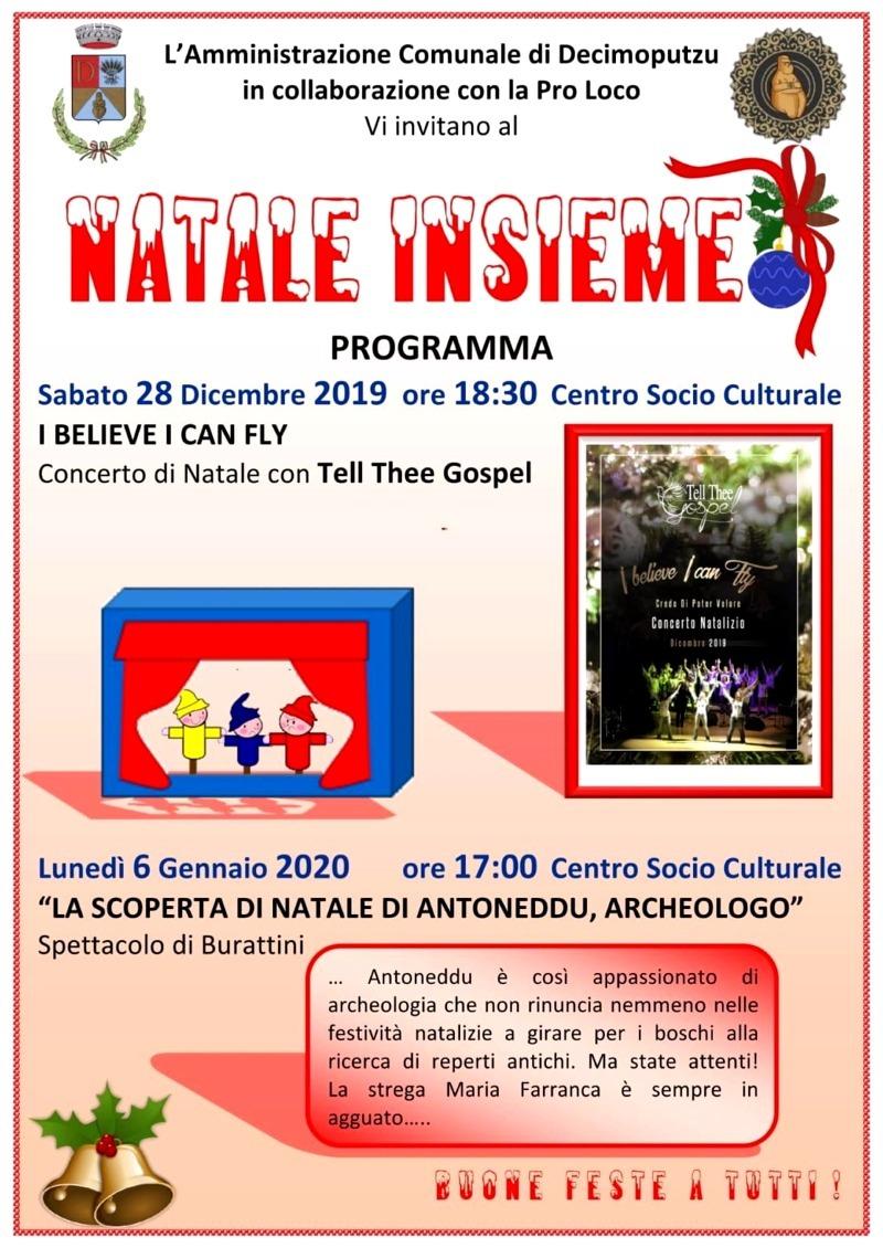 "Locandina ""Natale insieme"" 2019 Decimoputzu"