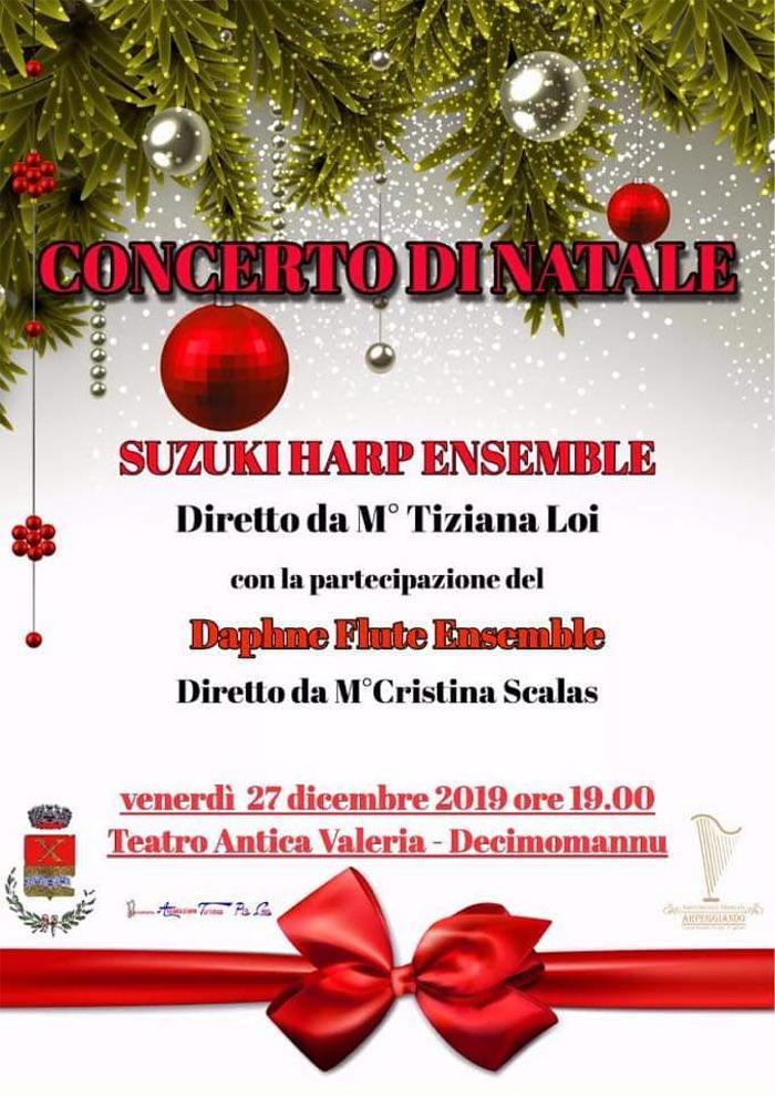 Locandina Concerto di Natale 2019 Decimomannu