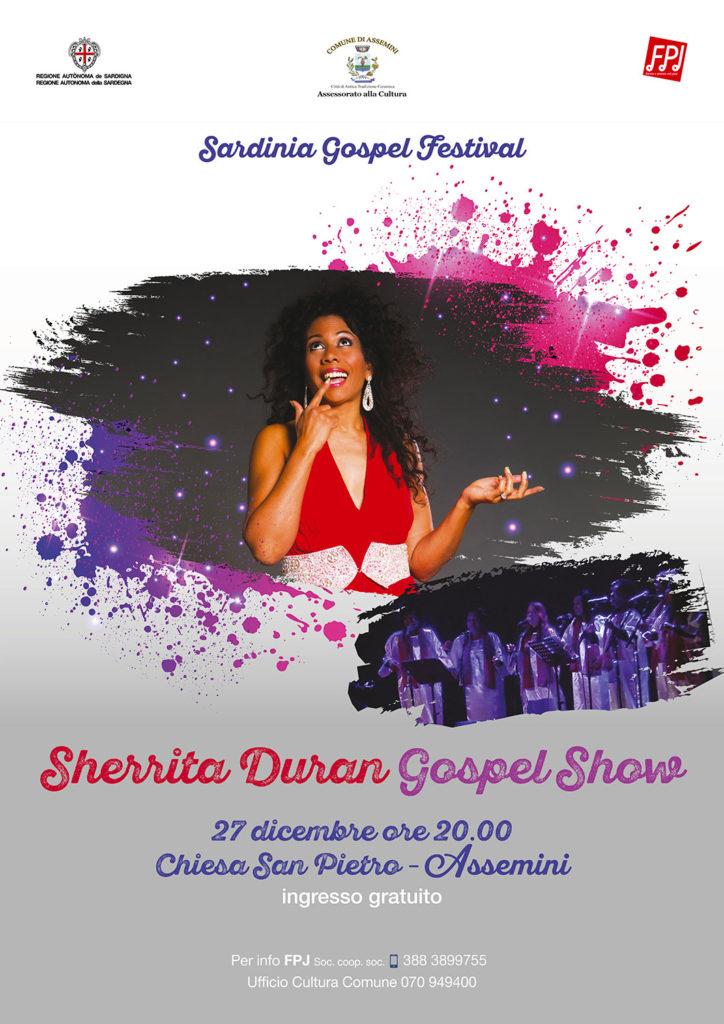 """Locandina """"Sherrita Duran Gospel Show"""" Assemini"""