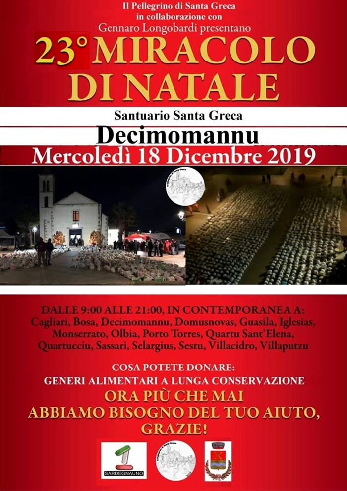 """locandina """"Miracolo di Natale"""" 2019"""