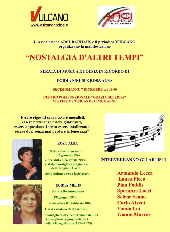 """Locandina evento """"Nostalgia d'altri tempi"""""""