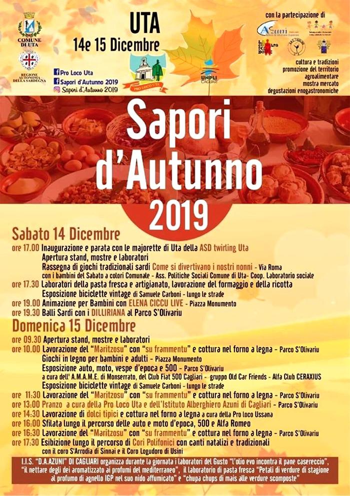 locandina Sapori d'Autunno Uta 2019