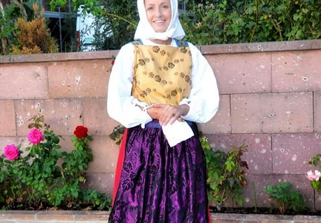 Sara Melis, presidente del gruppo folk Villaspeciosa