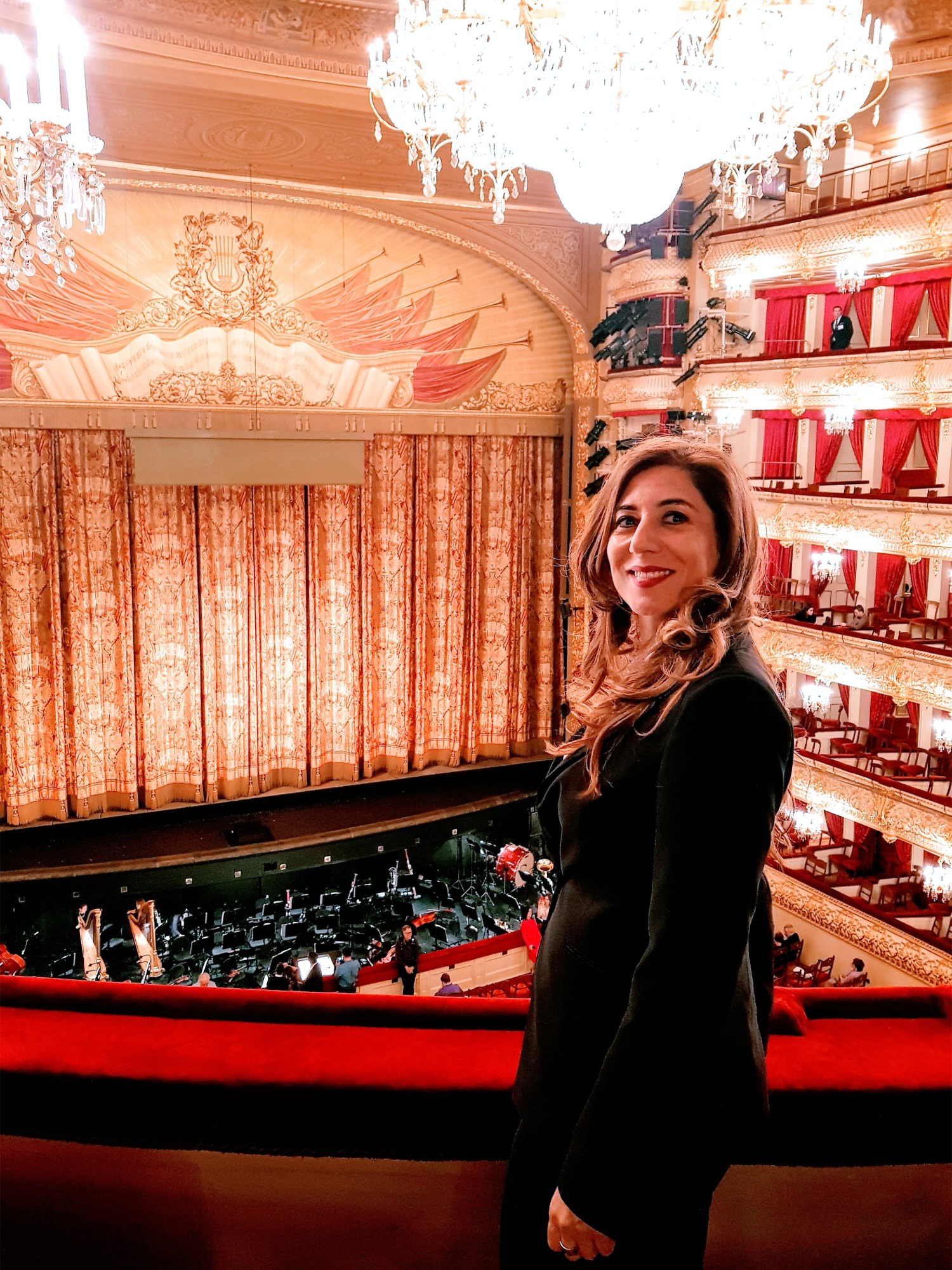 Silvia Pinna in un teatro di Mosca