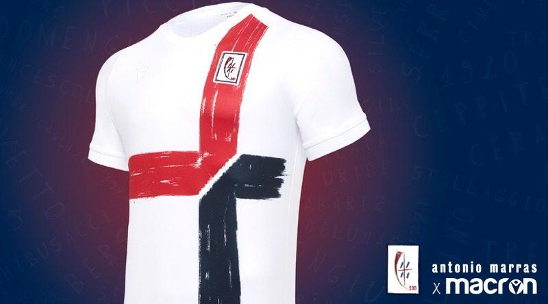 La maglia del Centenario del Cagliari Calcio