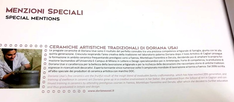 """La sezione """"menzioni speciali""""del libro """"100 eccellenze italiane"""" - © foto RD Editore"""