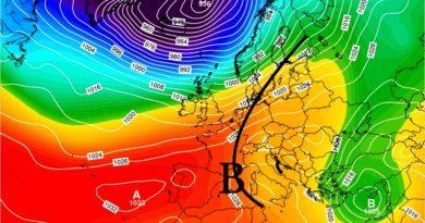 Tendenza meteo dal 7 al 12 gennaio 2020