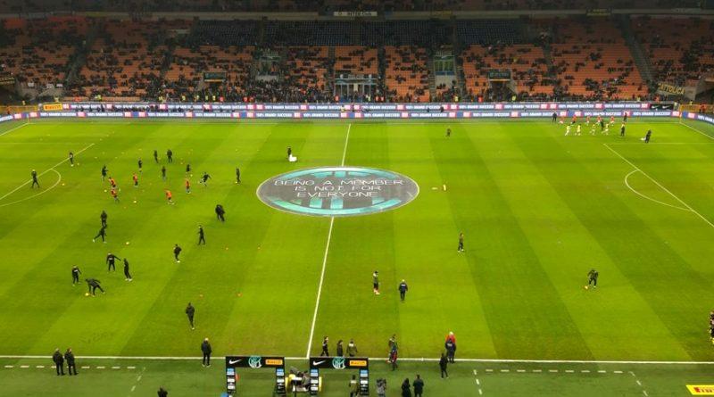 Riscaldamento Inter-Cagliari Coppa Italia 14 gennaio 2020