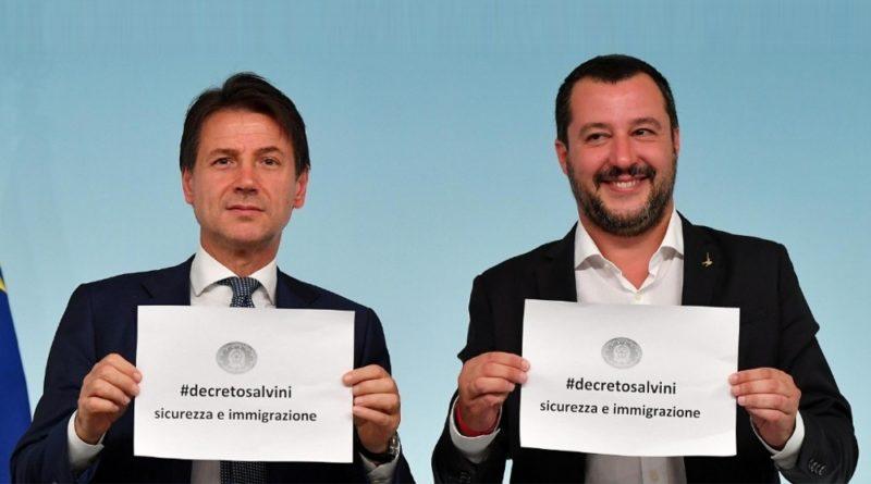 Conte e Salvini approvazione Decreto sicurezza 2018