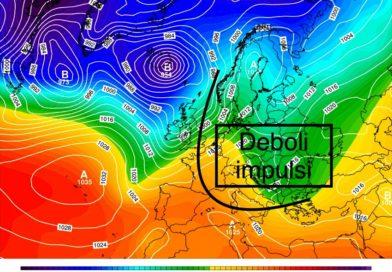 Tendenza meteo dal 18 al 23 febbraio