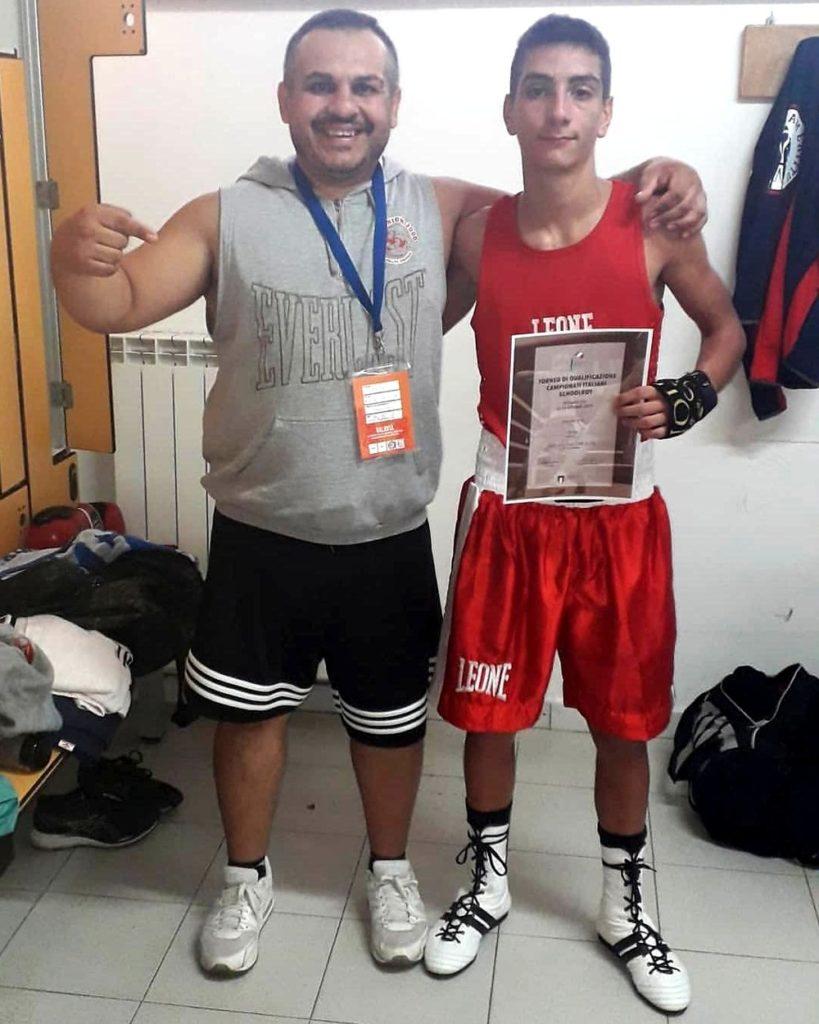 Nicola Tolu col suo allenatore Edoardo Pillittu